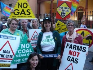 "Pauline Tyrrell at ""No CSG Rally' on 1 May 2012"