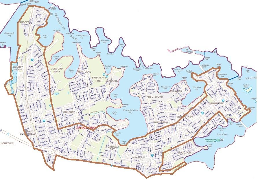 Canada Bay Sydney Map Why living in Canada Bay can be bad for your health – Canada Bay