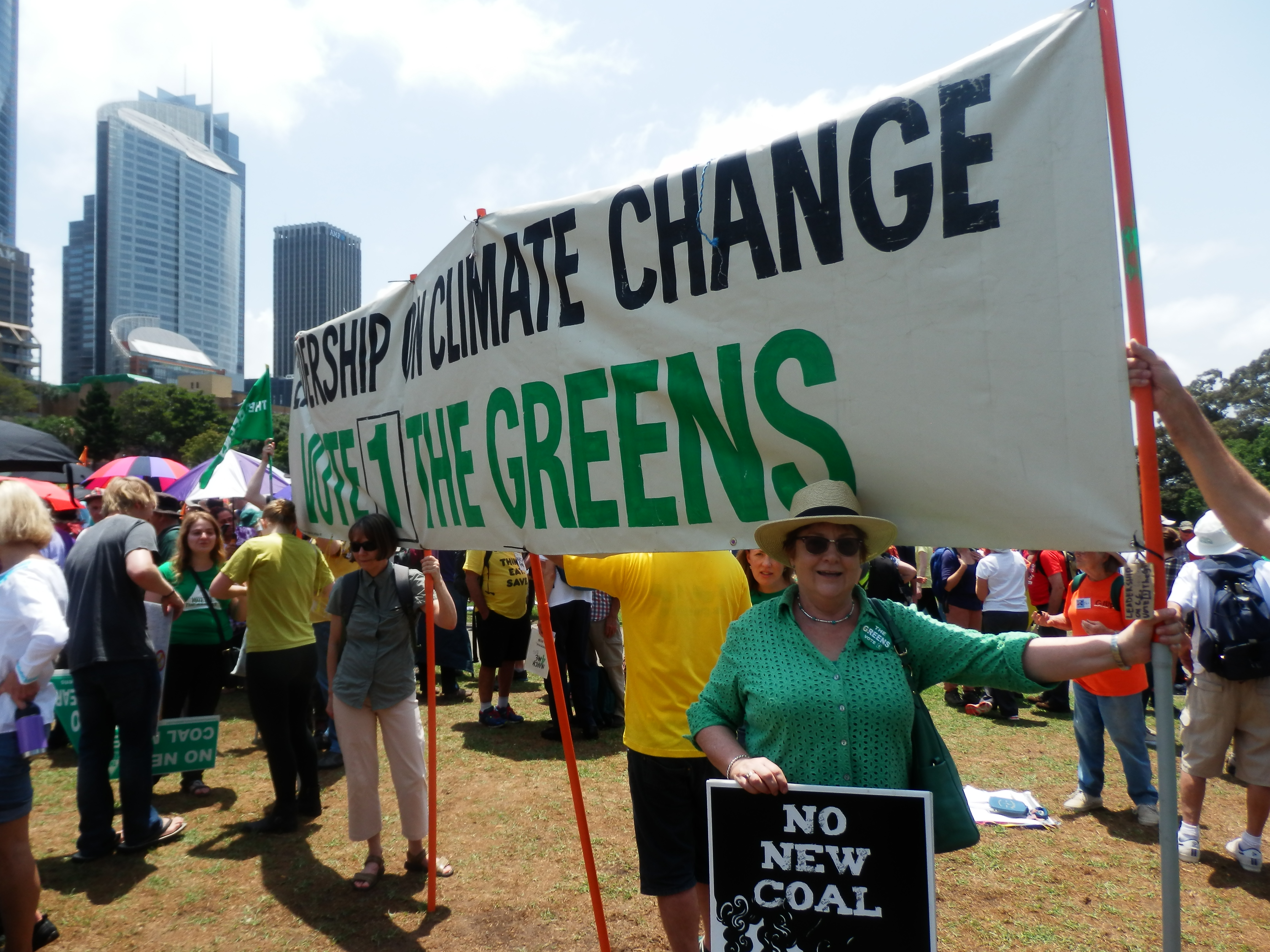 Huge turnout for Climate Change Rally