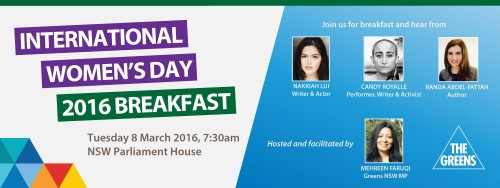 Invitation to International Women's Day Breakfast