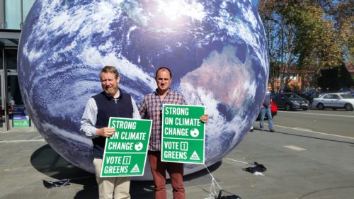 Earthball begins its journey around the State
